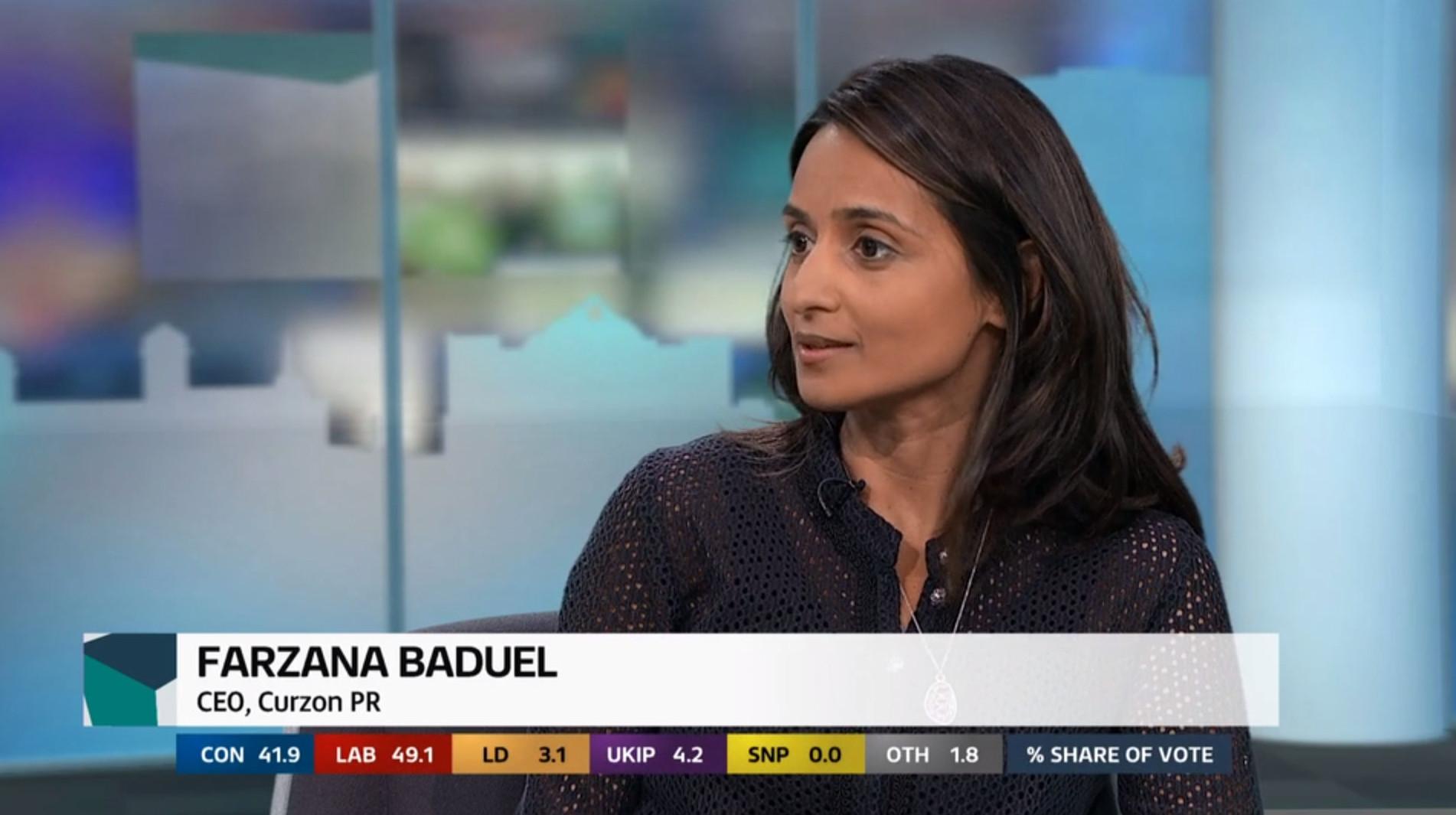 Farzana Baduel at ITV News